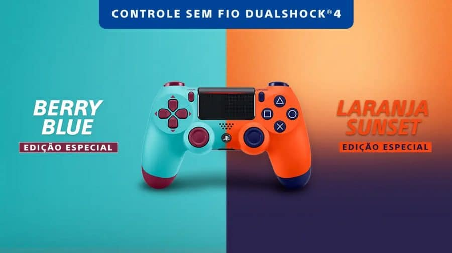 Sony anuncia chegada de novas cores do DualShock 4 ao Brasil