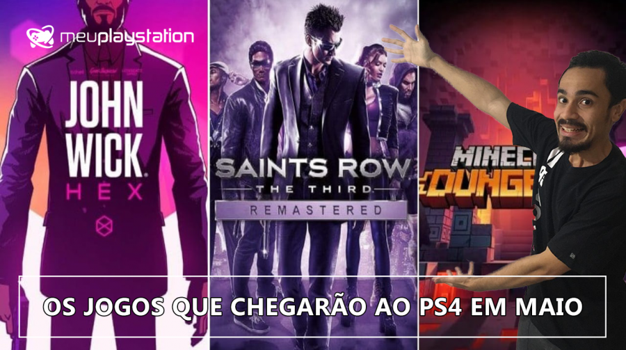 TODOS os lançamentos do mês de maio para PS4