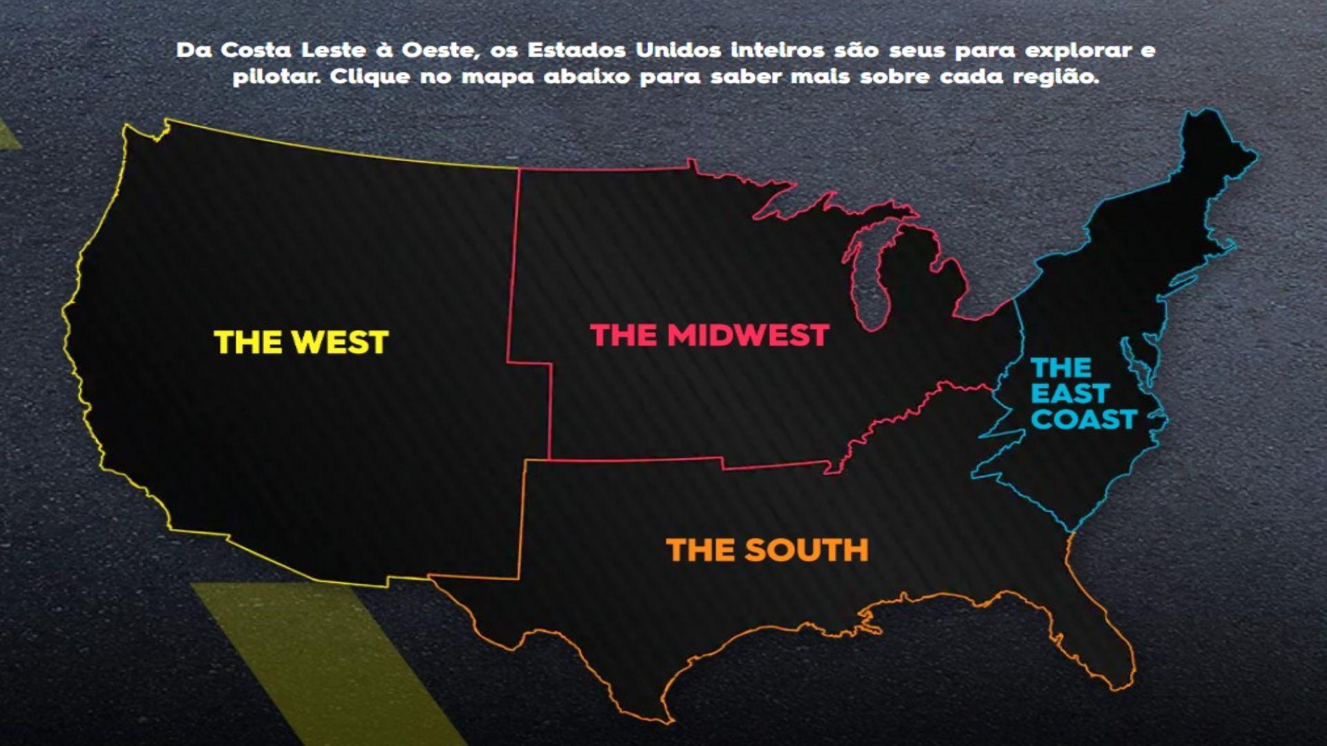 Mapa The Crew 2