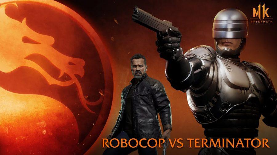 As máquinas que lutem: Robocop e Exterminador do Futuro quebram o pau em Mortal Kombat 11