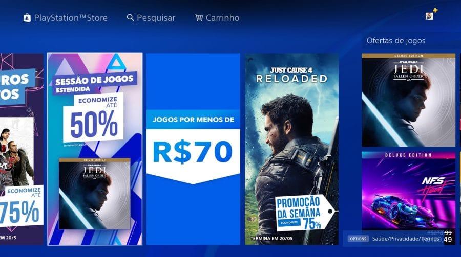Promoção na PS Store: Sony oferece até 75% de descontos em jogos