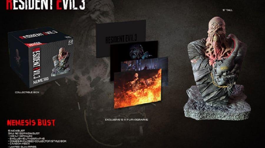 Capcom anuncia busto do Nemesis de Resident Evil 3