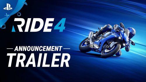 Fúria em duas rodas: RIDE 4 é anunciado para PS4