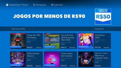 Sony lista jogos por menos R$ 90 na PS Store