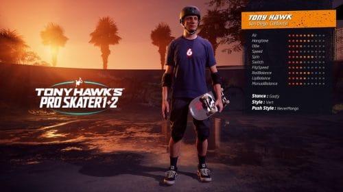 Novo gameplay de Tony Hawk's Pro Skater 1+2 mostra skatistas clássicos em ação