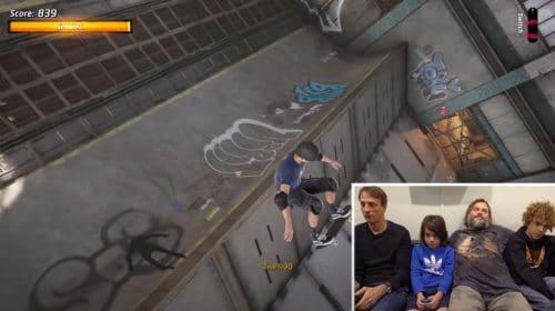 Ao lado de Tony Hawk, ator Jack Black joga Tony Hawk's Pro Skater 1+2