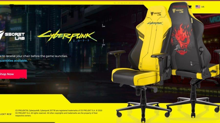 CD Projekt RED lança cadeiras gamers inspiradas em Cyberpunk 2077