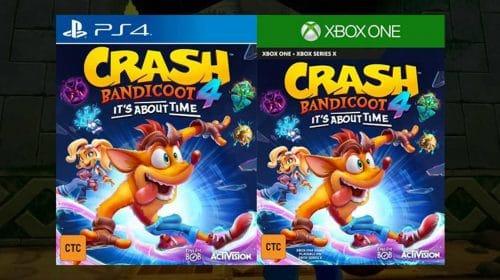 Crash Bandicoot 4 aparece na Internet com capa, detalhes e tudo mais!