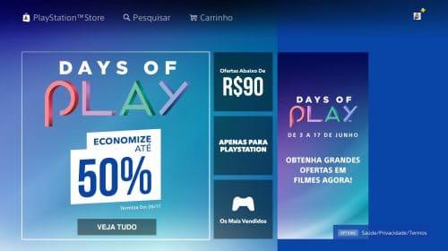 Começou! Days of Play na PS Store oferece muitos descontos em jogos
