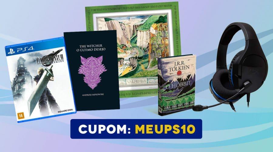 Atenção! Cupom EXCLUSIVO para desconto em livros, games e mais!