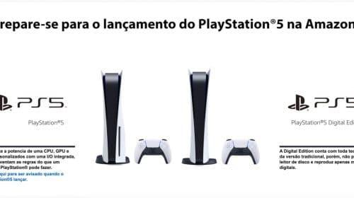 Amazon do Brasil lança página especial do PlayStation 5