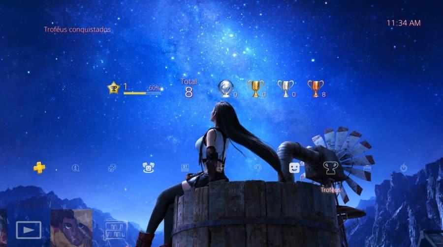 Resgate o seu: Sony lança novo tema gratuito de Final Fantasy VII Remake