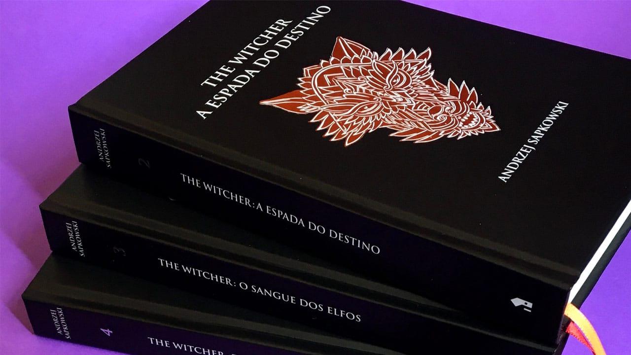 Livros de The Witcher com descontos
