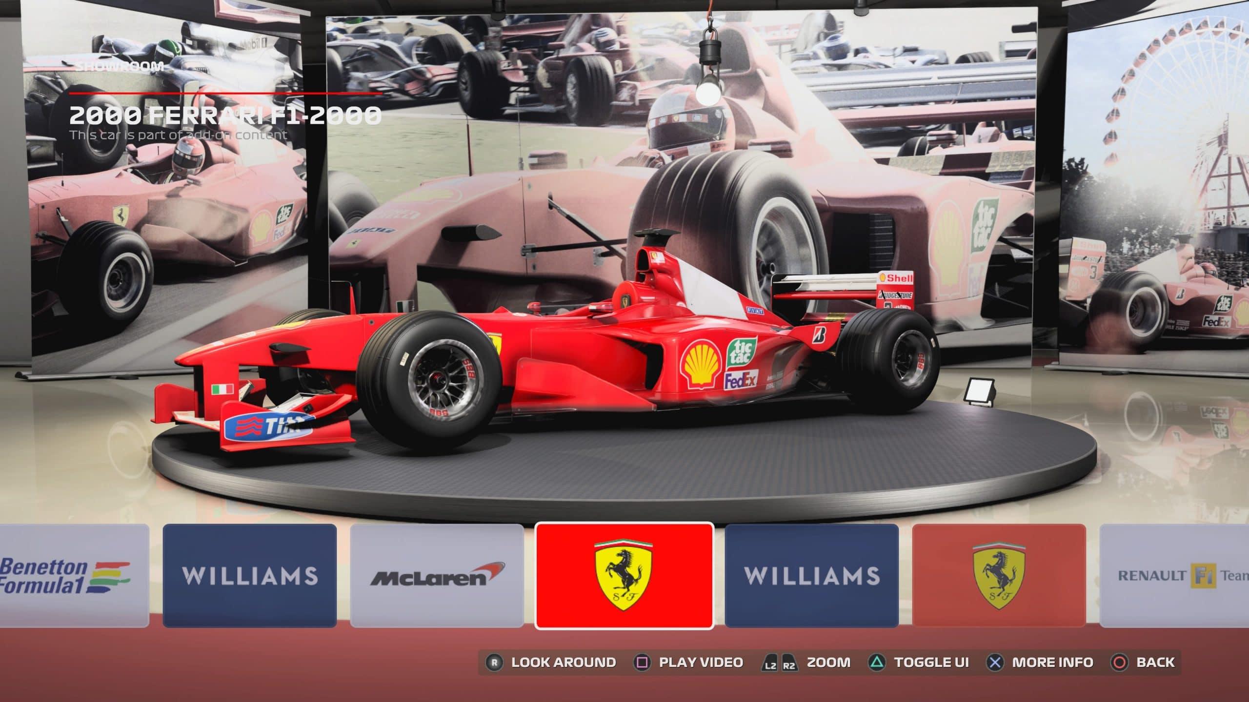 Carros históricos de Schumacher estão no game (Foto: Reprodução/Thiago Barros)