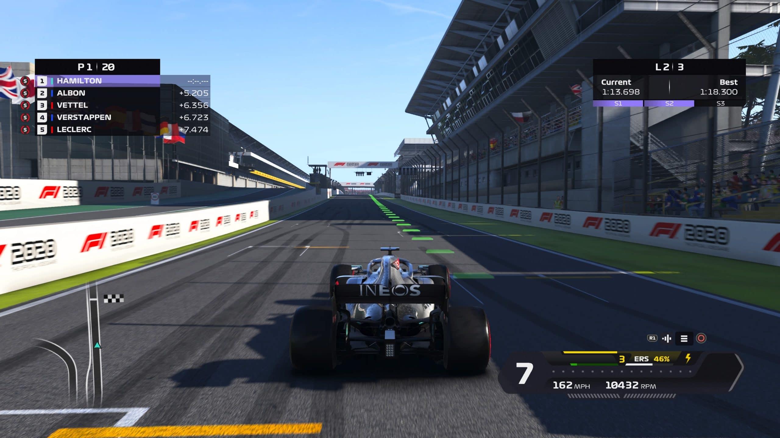F1 2020 tem o tradicional circuito de Interlagos (Foto: Reprodução/Thiago Barros)