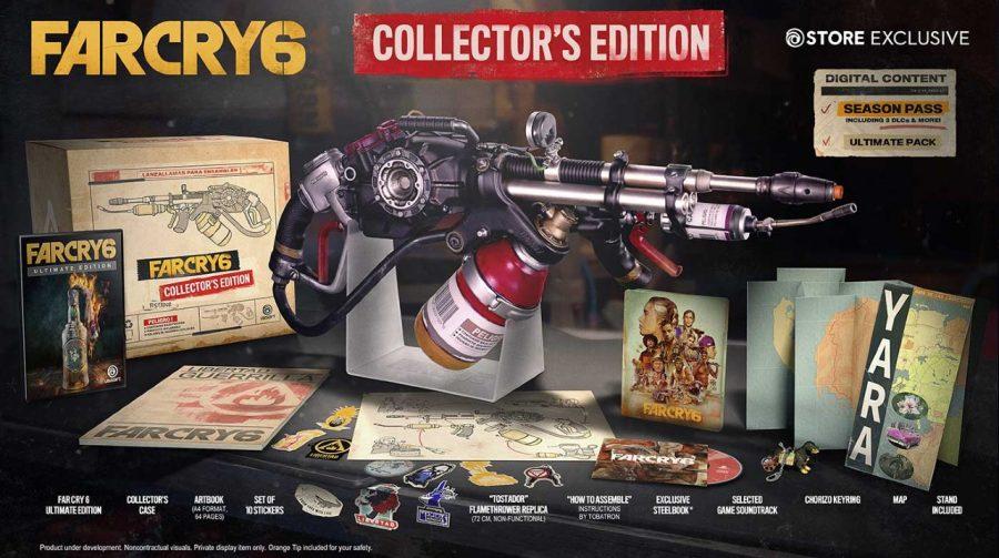 Quente! Collector's Edition de Far Cry 6 virá com réplica de um lança-chamas