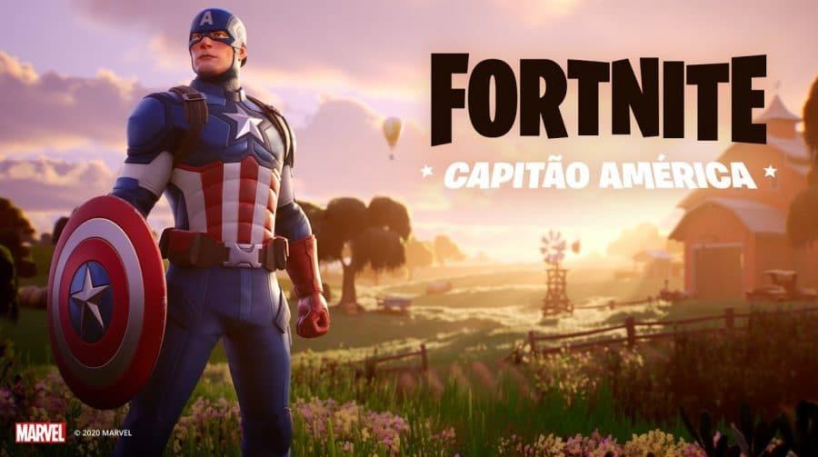 Eu peguei a referência! Capitão América chega ao Fortnite
