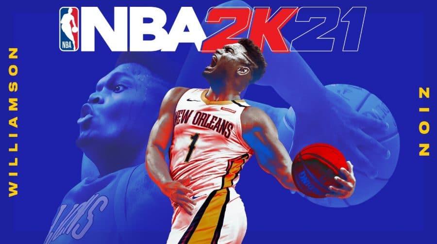 Estrela do Pelicans, Zion Williamson é a capa de NBA 2K21 na next-gen