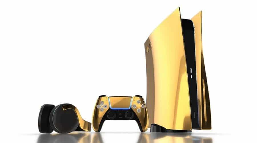 Ostentação: empresa anuncia edição do PS5 em ouro 24 quilates