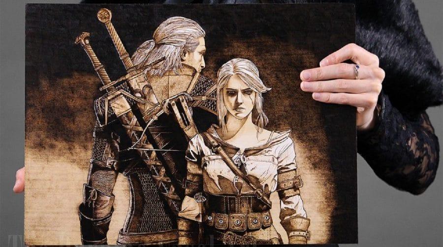 Igni! Fã cria arte impressionante de The Witcher 3 com pirografia