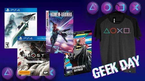 Geek Day: descontos especiais em games e muito mais!