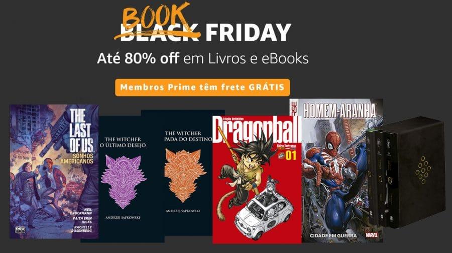 Book Friday na Amazon traz descontos de até 80% em livros
