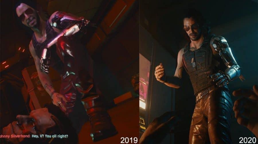 Compare os gráficos de Cyberpunk 2077 ao longo de seu desenvolvimento