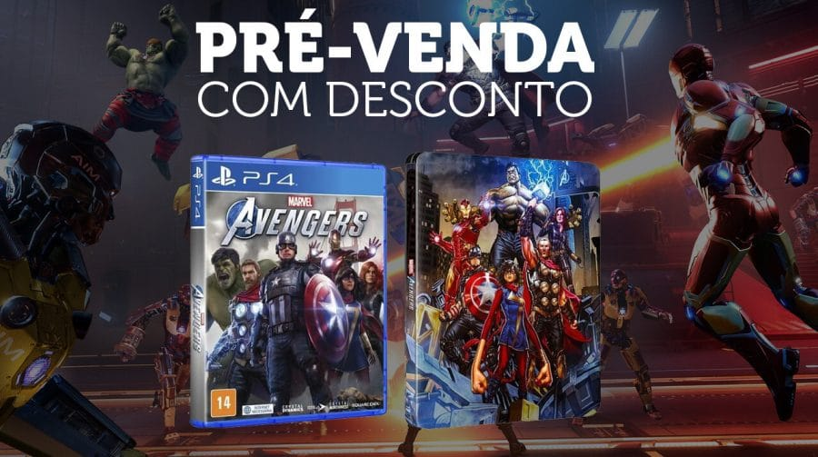 Avante! Edição especial de Marvel's Avengers com descontos de pré-venda