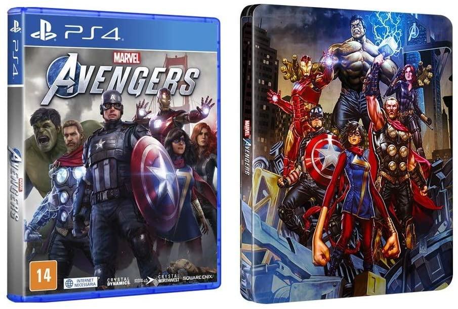 Marvel's Avengers edição limitada steelbook
