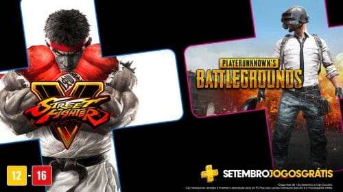 PS Plus de setembro de 2020 terá Street Fighter V e PUBG