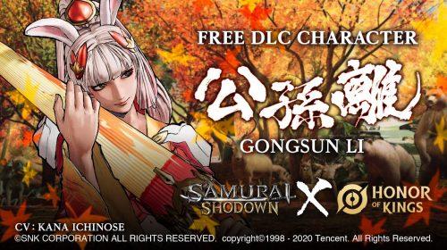 Nova lutadora chegará gratuitamente ao Samurai Shodown em 5 de agosto