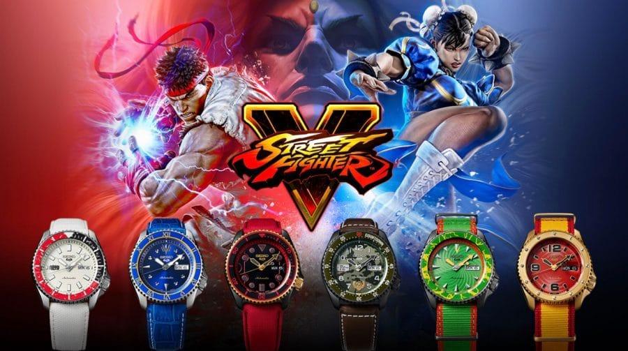 SEIKO anuncia linha de relógios de pulso inspirados em Street Fighter V