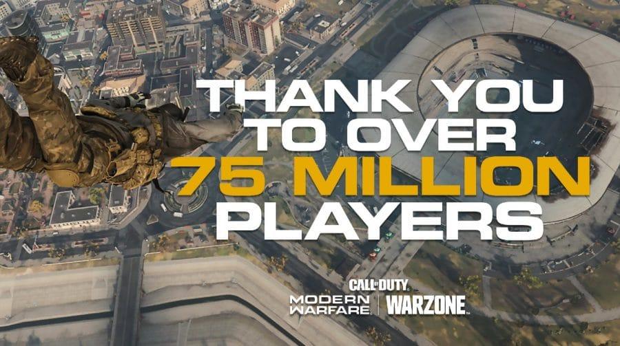 Warzone chega a 75 milhões de jogadores em cinco meses