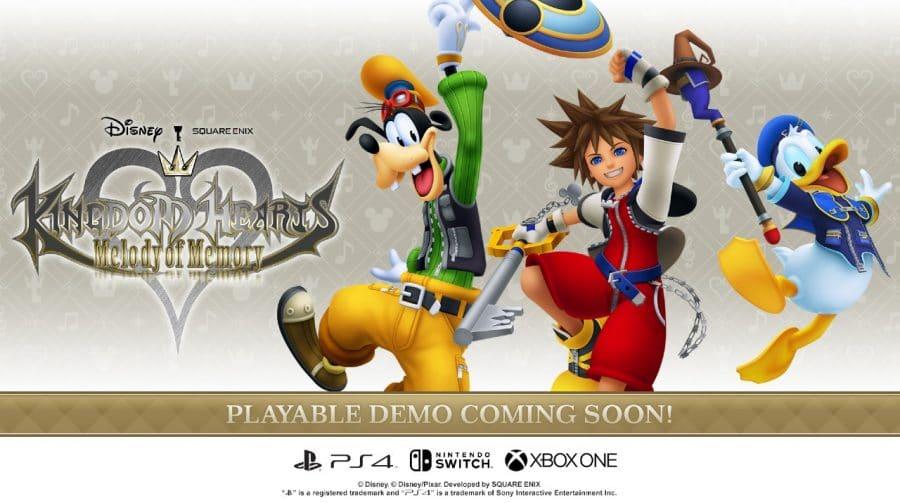 Square Enix lançará DEMO de Kingdom Hearts: Melody of Memory em outubro
