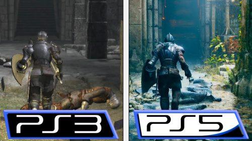 Gameplay faz comparação gráfica entre Demon's Souls de PS3 e PS5