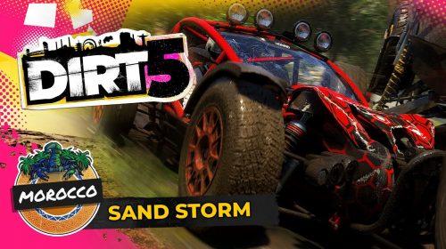 Muita areia! Gameplay de DiRT 5 destaca pista de terra em Marrocos