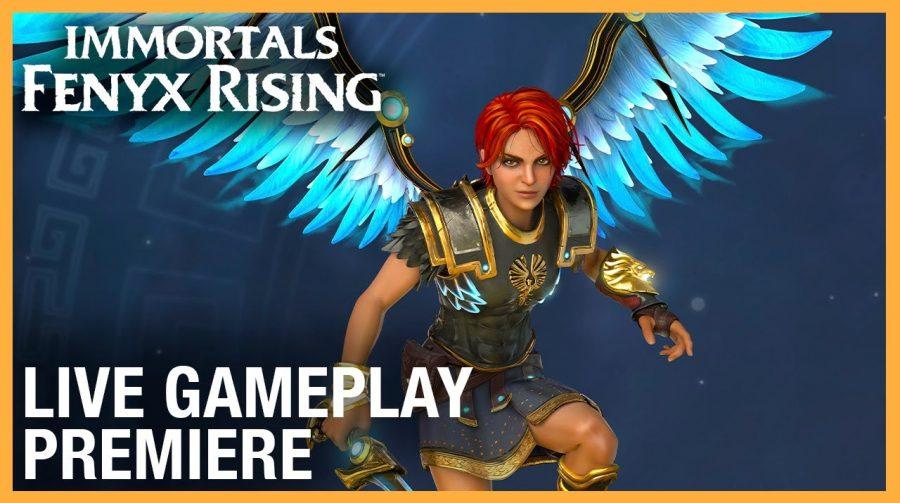 Gameplay de Immortals: Fenyx Rising destaca combate, exploração e puzzles