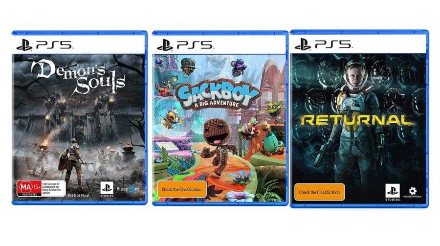 Demon's Souls, Gran Turismo 7... mais caixinhas de jogos do PS5 reveladas!