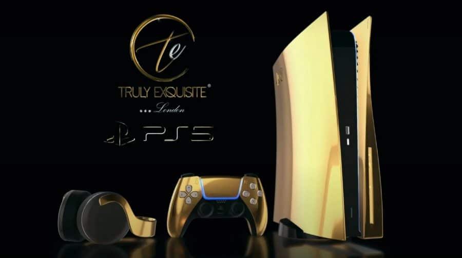 Pré-venda do PS5 de ouro começa na quinta-feira por mais de R$ 50 mil