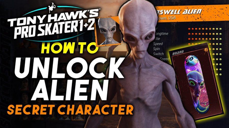 Tony Hawk's Pro Skater 1+2: como desbloquear o Alien