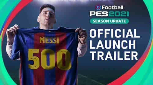 História de Messi é destaque em trailer de lançamento de eFootball PES 2021