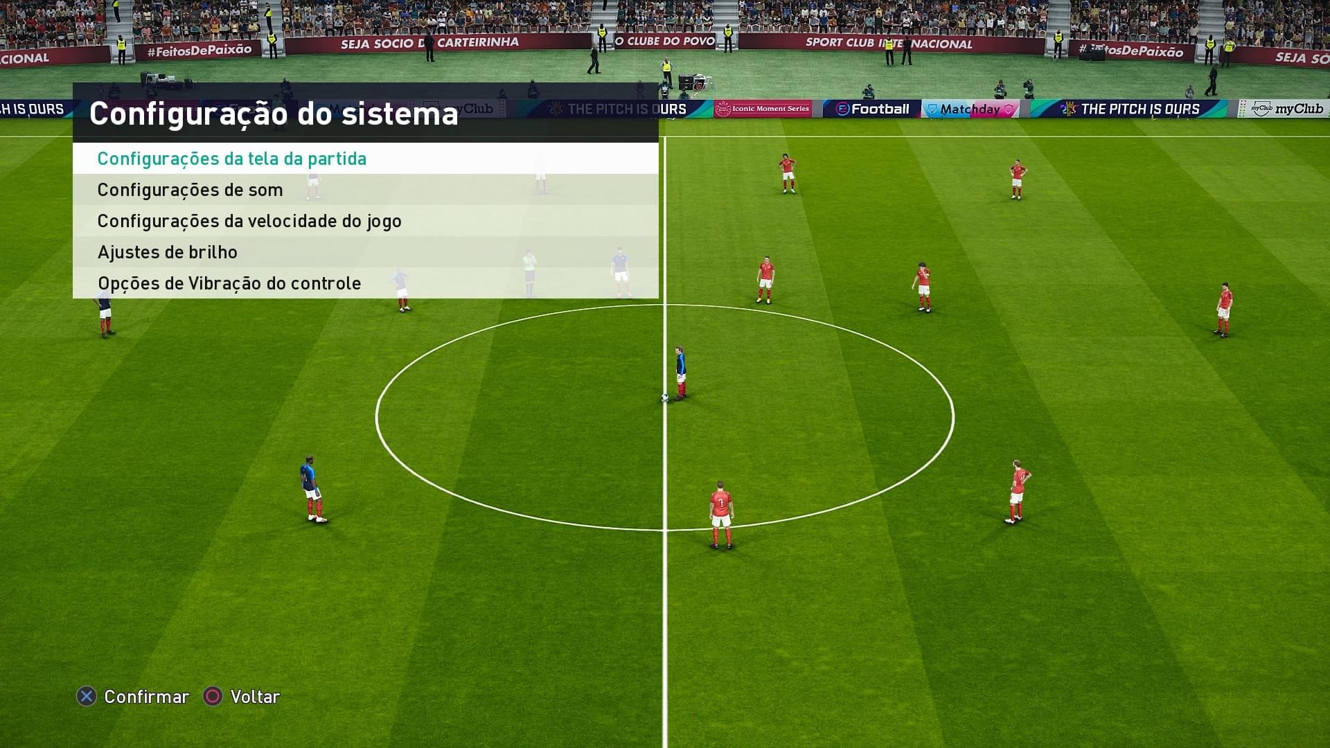eFootball PES 2021 - Opcoes