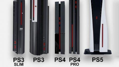 Em tamanho, o PS5 é o maior videogame da Sony
