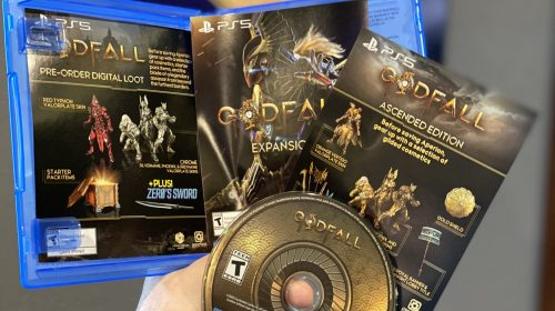 Primeira mídia física impressa do PS5 é de GodFall