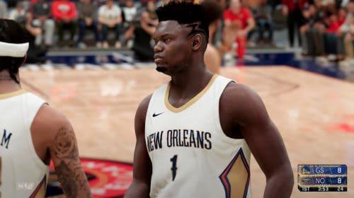 Gameplay de NBA 2K21 no PS5 destaca partida entre Warriors e Pelicans