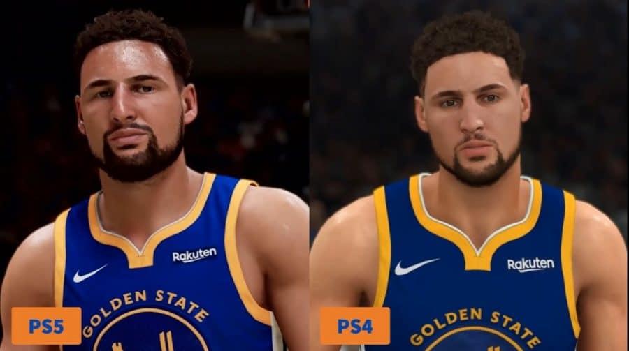 Compare os gráficos de NBA 2K21 entre versões de PS4 e PS5