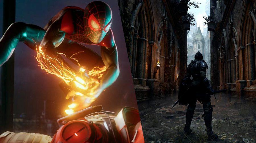 Trilhas sonoras do menu do PS5 para Spider-Man Miles Morales e Demon's Souls aparecem na Internet