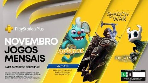 Sony revela PlayStation Plus de Novembro de 2020 com 3 jogos!