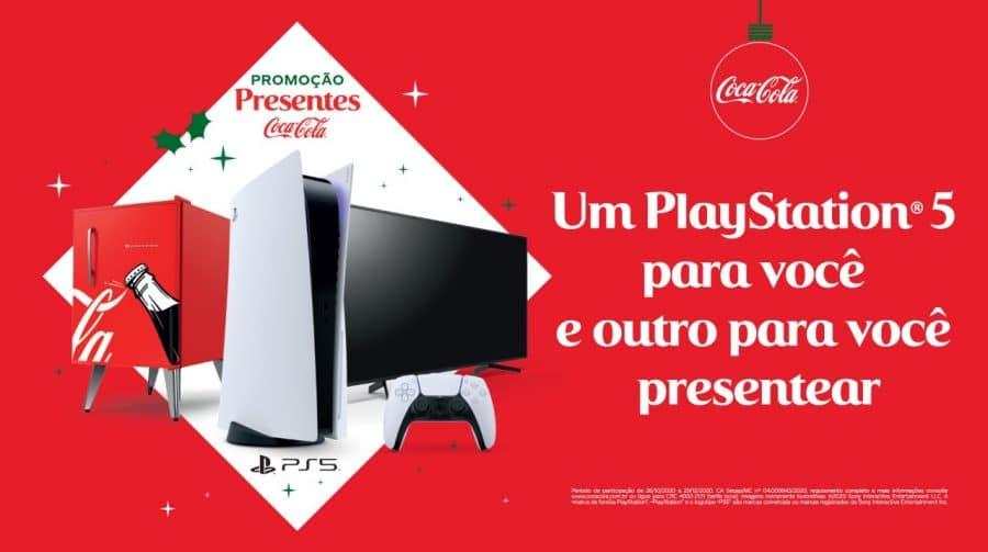 Coca-Cola e PlayStation se juntam em promoção e presentearão fãs com PS5