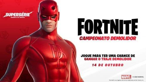 Mais um personagem da Marvel vira skin de Fortnite: o Demolidor